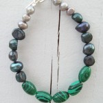 Malachite and Freshwater Pearls