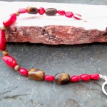 Red Coral and Tigers Eye