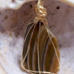 Striped Shell Pendant-Sold
