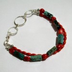 African Turquoise and Red Coral
