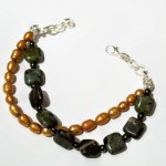 Jasper, Hematite, and Freshwater Pearls