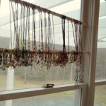 Eyeglass holders, lanyards, and bracelets make for superb window treatments