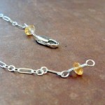 Citrine (this is Diane's necklace halfway finished)