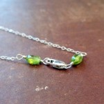 Peridot (this is Debbe's necklace halfway done)