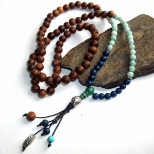 gemstone mala, mala necklace, mala jewelry, how to use a mala, mala purpose