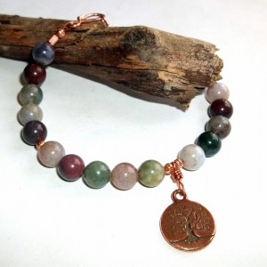 tree of life, gemstone bracelet, earthegy